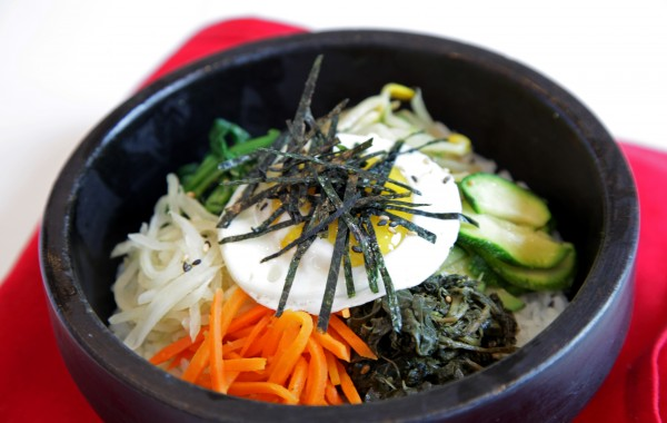 Bibim Bap <br /> Meat and Vegetarian Sizzling Stone Bowls