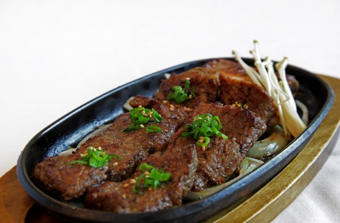Kalbi <br />Mouthwatering, marinated beef prime rib